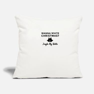 "Sugar Daddy Jingle My Bells White Christmas Adult Humor - Throw Pillow Cover 18"" x 18"""