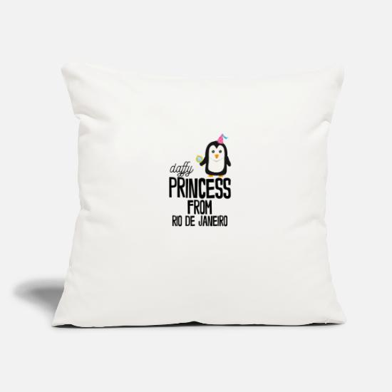 "Famous Pillow Cases - daffy Princess from Rio de Janeiro - Throw Pillow Cover 18"" x 18"" natural white"