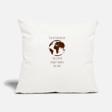"Nature Conservation Rotation earth day gift ecology climate change - Throw Pillow Cover 18"" x 18"""