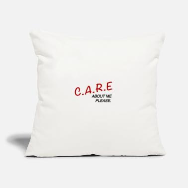 "Care Care - Throw Pillow Cover 18"" x 18"""