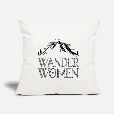 "Recreational Hiking saying gift nature mountain - Throw Pillow Cover 18"" x 18"""