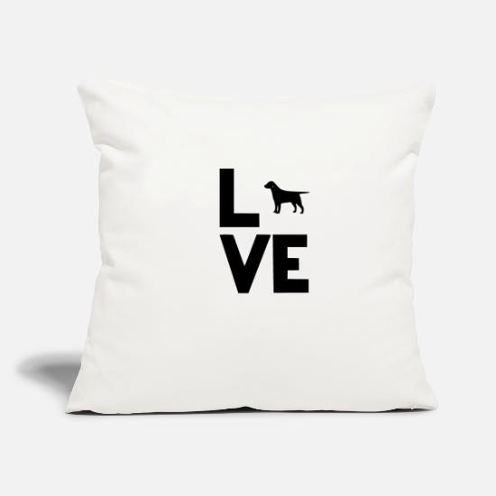 "Love Pillow Cases - best retriever - Throw Pillow Cover 18"" x 18"" natural white"