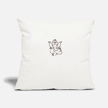 "Indian elephant black - Throw Pillow Cover 18"" x 18"""