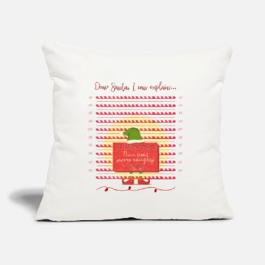 Dear Santa, I Can Explain | Naughty Christmas Elf - Throw Pillow Cover