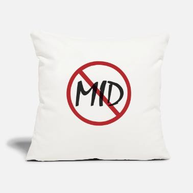 "Gunja SAY NO TO MID - Throw Pillow Cover 18"" x 18"""
