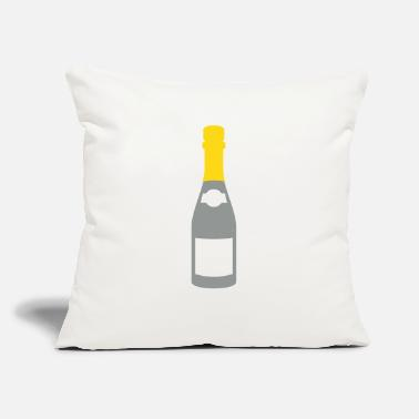"Champagne Bottles champagne bottle - Throw Pillow Cover 18"" x 18"""