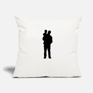 "Father And Son Father and Son - Throw Pillow Cover 18"" x 18"""