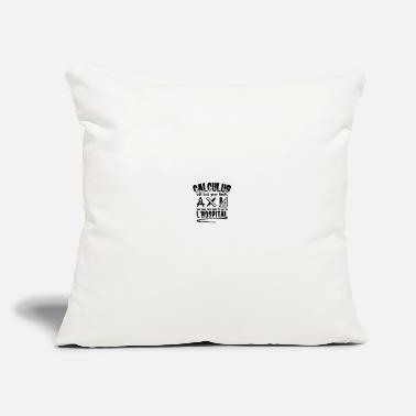 "Calculus CALCULUS: Calculus tests your limits - Throw Pillow Cover 18"" x 18"""