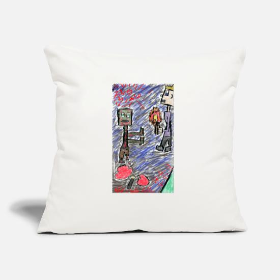 "The Office Pillow Cases - zizzy th3 zombi3 2 - Throw Pillow Cover 18"" x 18"" natural white"