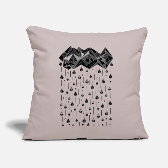 "Goodies Pillow Cases - Geometric rain ss - Throw Pillow Cover 18"" x 18"" light grey"