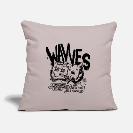 "Music Pillow Cases - wavves band - Throw Pillow Cover 18"" x 18"" light grey"