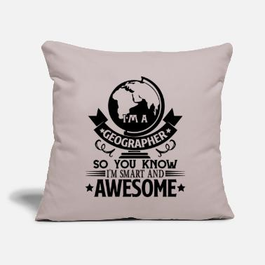 "Geographic Geographer - Throw Pillow Cover 18"" x 18"""