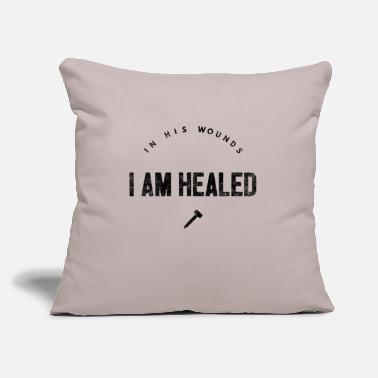 "Healing Healed in His wounds - healing - Throw Pillow Cover 18"" x 18"""