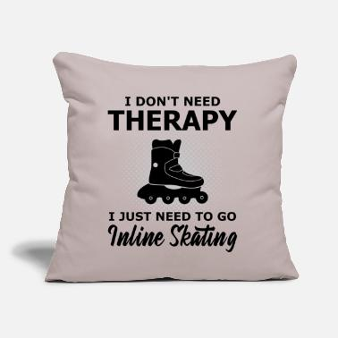 "Speed Skating Inline Skating Gift Rollerblading Cool Saying - Throw Pillow Cover 18"" x 18"""