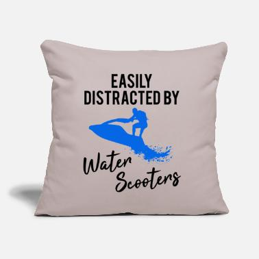 "Water Skiing Jet Ski Skier Water Scooter Funny Quote Gift - Throw Pillow Cover 18"" x 18"""
