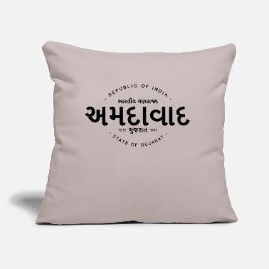 "Ahmedabad Ahmedabad - Throw Pillow Cover 18"" x 18"""