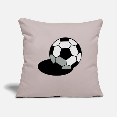 "Inflated Oval SOCCER FOOTBALL BALL WITH A SHADOW - Throw Pillow Cover 18"" x 18"""