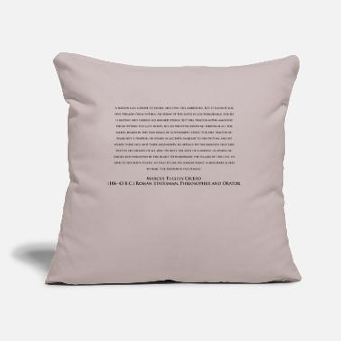 "Wrangle A Murderer Is Less To Fear Inverse - Throw Pillow Cover 18"" x 18"""