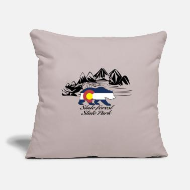 "State state forest state park - Throw Pillow Cover 18"" x 18"""