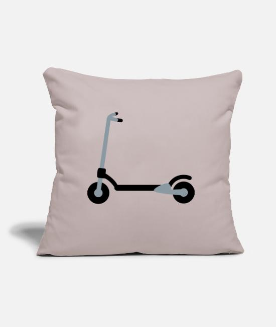 "Scooter Pillow Cases - a scooter - Throw Pillow Cover 18"" x 18"" light taupe"