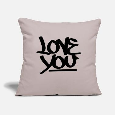 "Love You Love You - Throw Pillow Cover 18"" x 18"""
