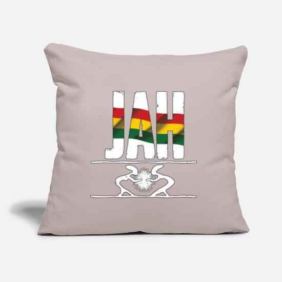 "Love Pillow Cases - jah rastafari reggae love - Throw Pillow Cover 18"" x 18"" light taupe"