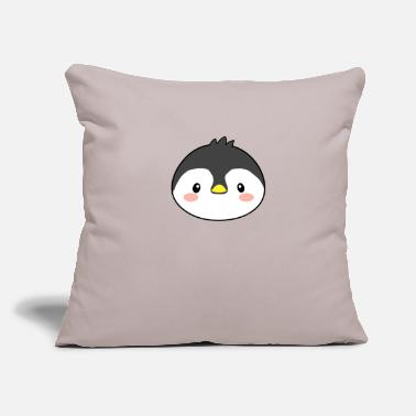 "Blizzard Kawaii Penguin - Throw Pillow Cover 18"" x 18"""