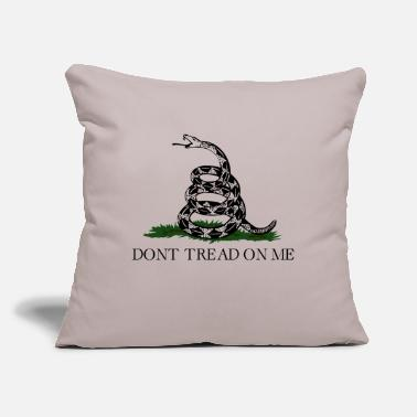 "Don't Tread On Me (Gadsden Flag) - Throw Pillow Cover 18"" x 18"""