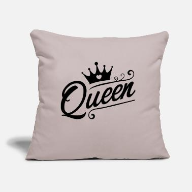 "Queens Queen - Throw Pillow Cover 18"" x 18"""