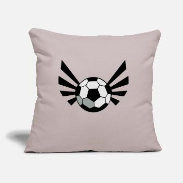 "Inflated Oval SOCCER BALL world cup with an awesome blaze ! - Throw Pillow Cover 18"" x 18"""