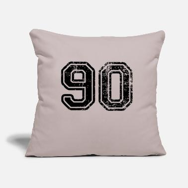 "Nineties Ninety - Throw Pillow Cover 18"" x 18"""