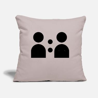 "Social SOCIAL - Throw Pillow Cover 18"" x 18"""