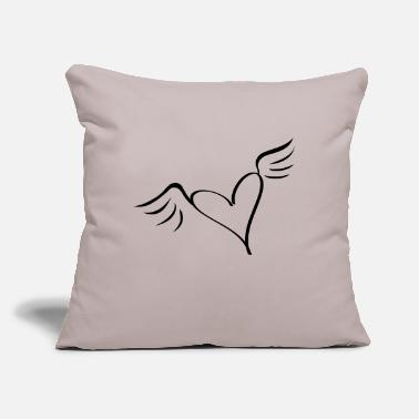 "Serce wings - Throw Pillow Cover 18"" x 18"""