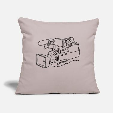 "Video video camera - Throw Pillow Cover 18"" x 18"""