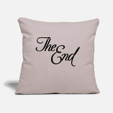 "End The End - Throw Pillow Cover 18"" x 18"""