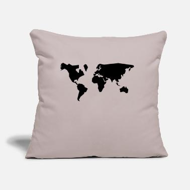 "Geographic geographic - Throw Pillow Cover 18"" x 18"""