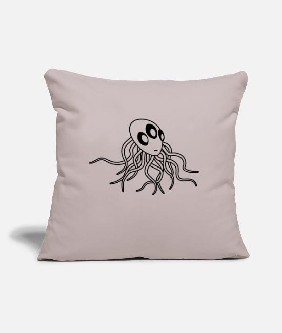 "Extraterrestrial Pillow Cases - tentacles, octopus, squid, underwater, fangarms, d - Throw Pillow Cover 18"" x 18"" light taupe"
