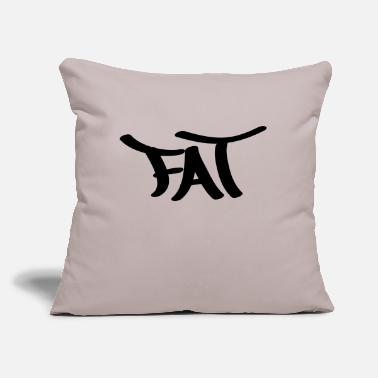 "Fat fat - Throw Pillow Cover 18"" x 18"""