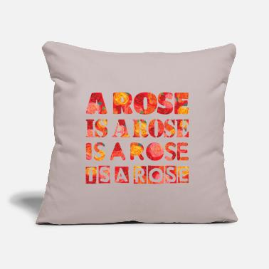 "Rose a rose is a rose - Throw Pillow Cover 18"" x 18"""
