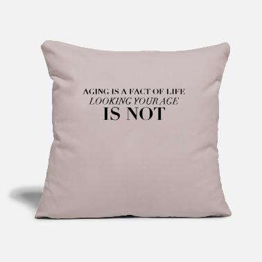 "Age aging - Throw Pillow Cover 18"" x 18"""