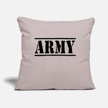 "Army army - Throw Pillow Cover 18"" x 18"""