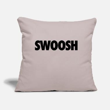 "Swoosh Swoosh - Throw Pillow Cover 18"" x 18"""