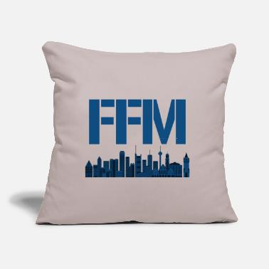 "Frankfurt Frankfurt FFM - Throw Pillow Cover 18"" x 18"""