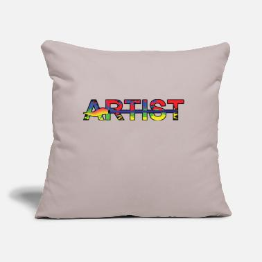 "Artist Artist - Throw Pillow Cover 18"" x 18"""
