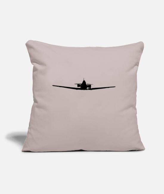 "Pilot Pillow Cases - Plane - Throw Pillow Cover 18"" x 18"" light taupe"