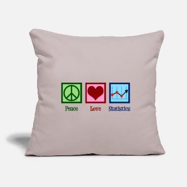 "Statistics Peace Love Statistics - Throw Pillow Cover 18"" x 18"""