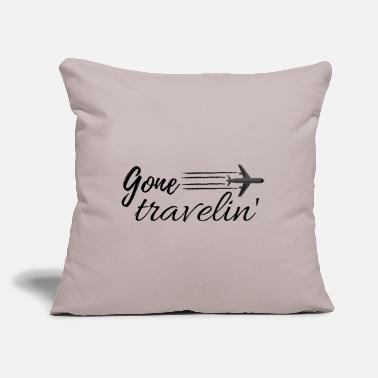 "Wander Gone travelin - Throw Pillow Cover 18"" x 18"""