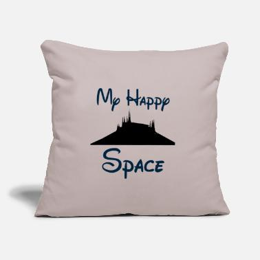 "My Happy Space - Throw Pillow Cover 18"" x 18"""