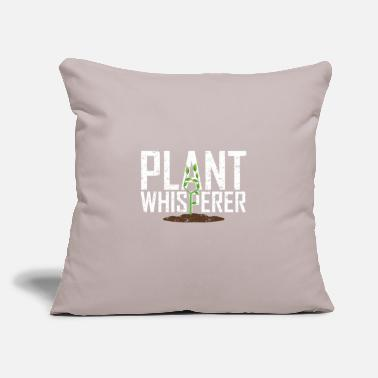"Ghost 097 Gardening T Shirt Plant Whisperer Funny Hobby - Throw Pillow Cover 18"" x 18"""