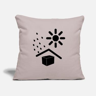 "Weather weathered - Throw Pillow Cover 18"" x 18"""